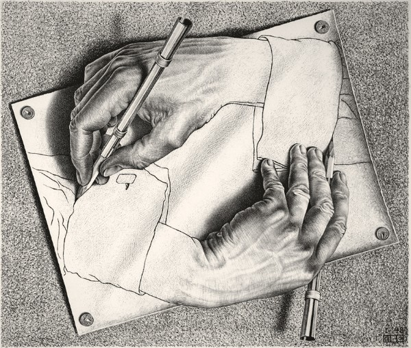 M.C. Escher, Drawing Hands