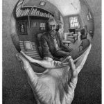 M.C. Escher, Hand with Reflecting Sphere