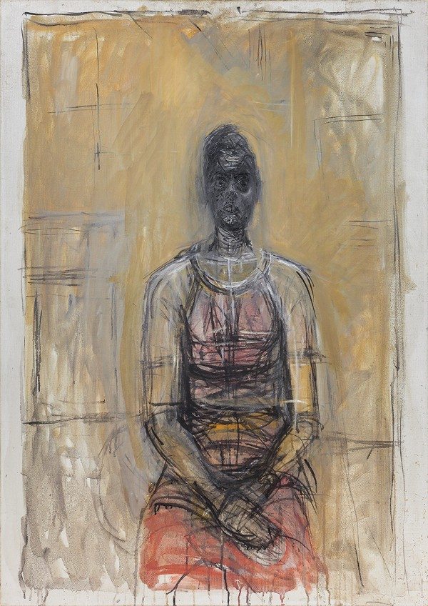 Alberto Giacometti, Caroline in a Red Dress