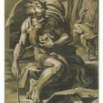 Ugo da Carpi, after Parmigianino, Diogenes, circa 1527–30