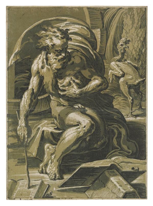 Ugo da Carpi, after Parmigianino, Diogenes, circa 1527–30