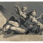 Niccolò Vicentino, after Pordenone, Saturn, circa 1540s