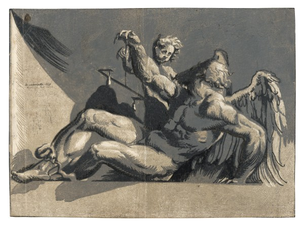 Niccolò Vicentino, after Pordenone, Saturn, circa 1540s
