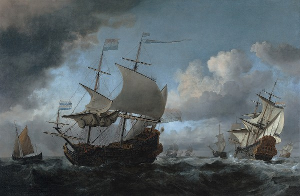 Willem van de Velde the Younger, The Dutch Fleet Assembling Before the Four Days' Battle of 11-14 June 1666, 1670