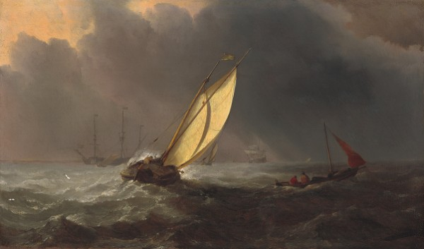 Willem van de Velde the Younger, Before the Storm, c. 1700