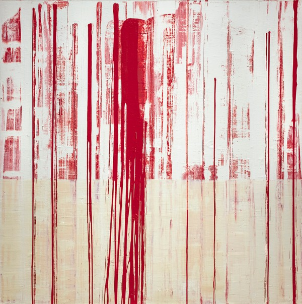 Jacqueline Humphries, Red and White Abstraction, Untitled #3, 1995
