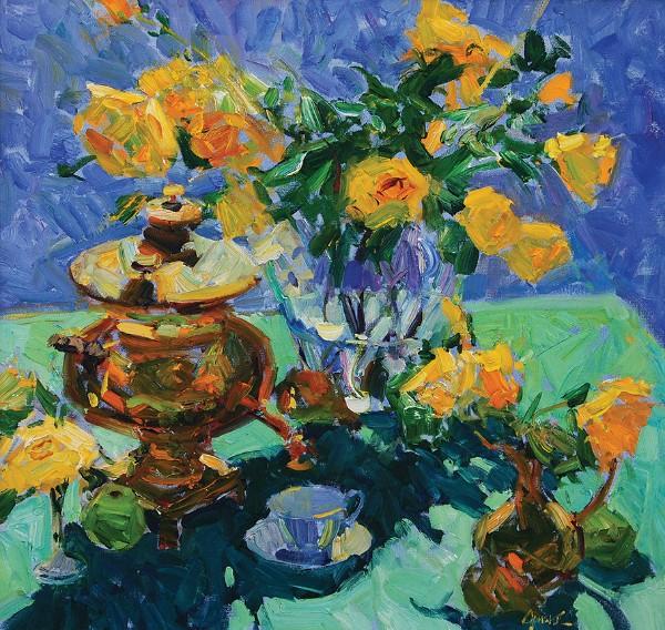 Walt Gonske, Samovar with Roses, 2012