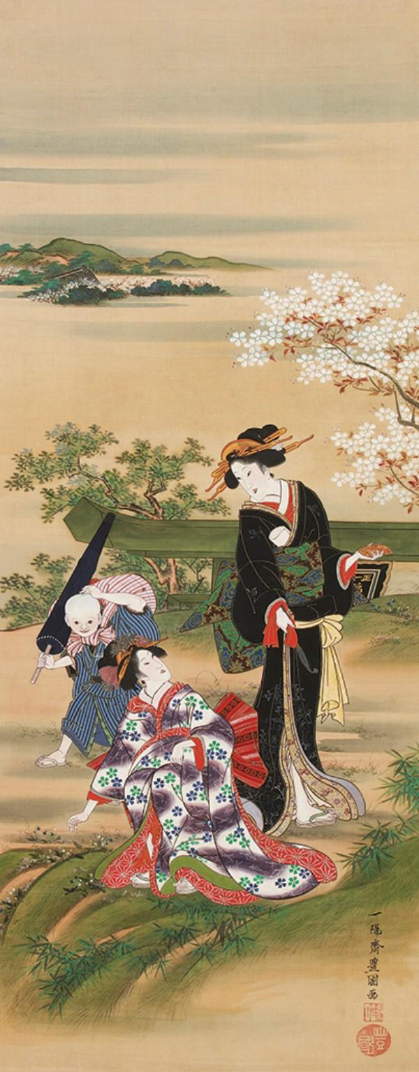 Utagawa Toyokuni, Gathering Herbs at Mimeguri, circa 1816