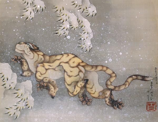 Katsushika Hokusai, Tiger in Snow, 1849