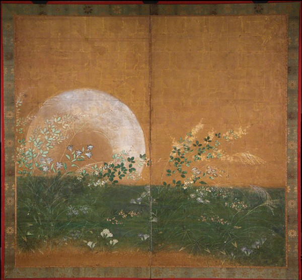 Artist of the Rimpa School, Plains of Musashino With Full Moon Rising
