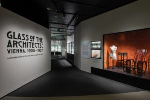 "Installation view of ""Glass of the Architects: Vienna, 1900–1937"""