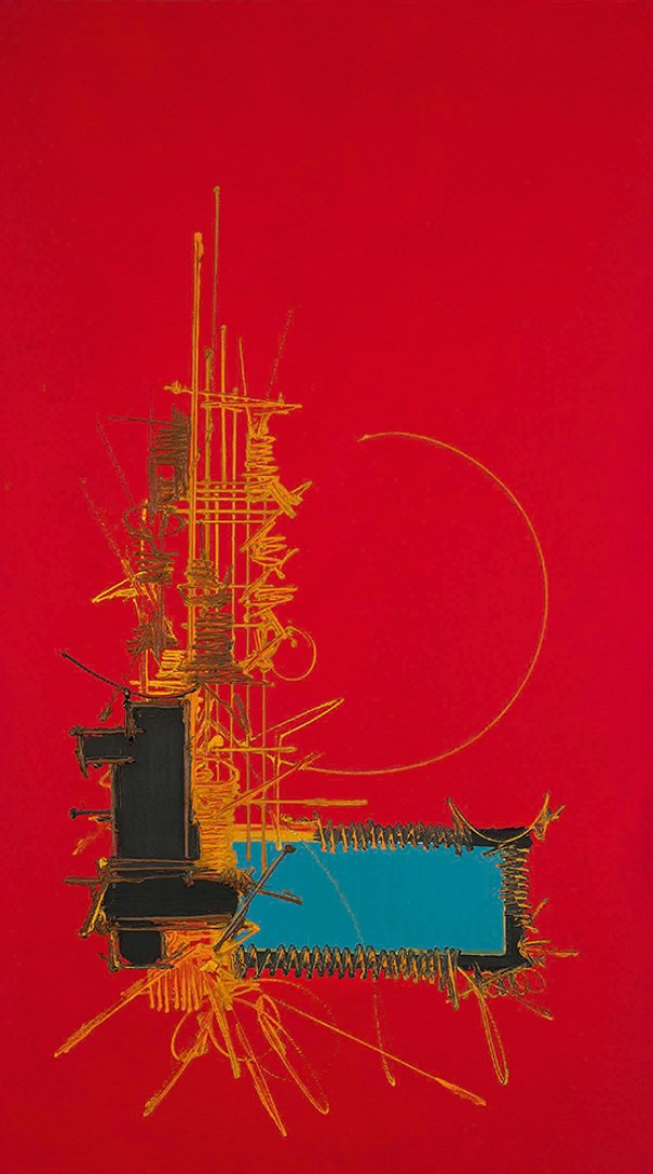 Georges Mathieu, Composition, circa 1970