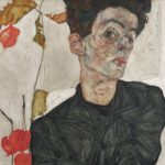 Egon Schiele, Self-Portrait with Chinese Lantern Plant, 1912