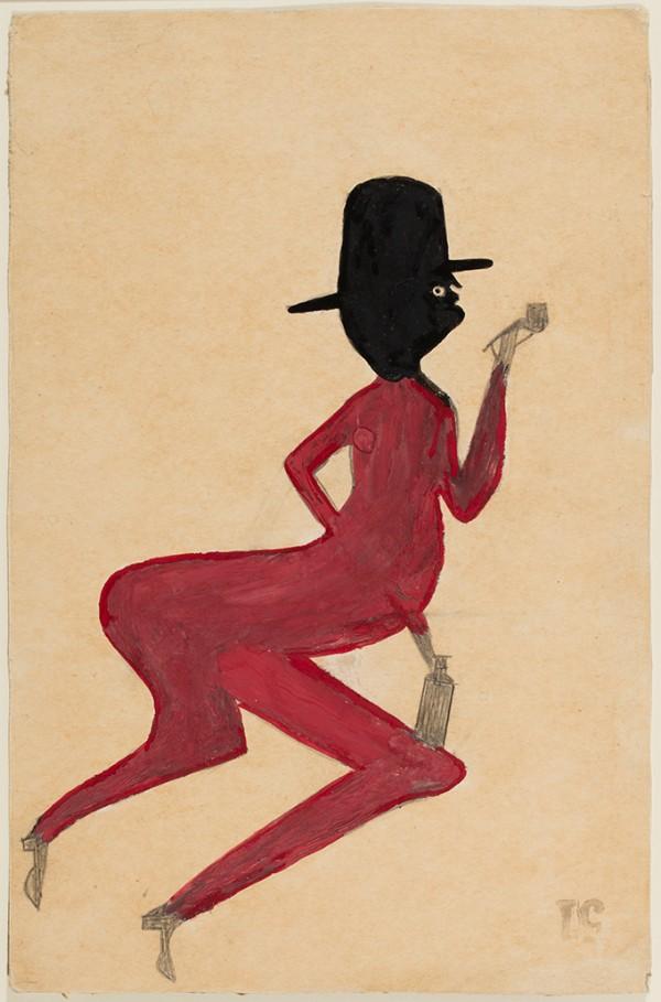 Bill Traylor, Red Man, ca. 1939–1942