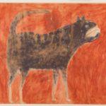 Bill Traylor, Mean Dog (Verso: Man Leading Mule), ca. 1939–1942