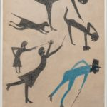 Bill Traylor, Untitled (Event with Man in Blue and Snake), 1939