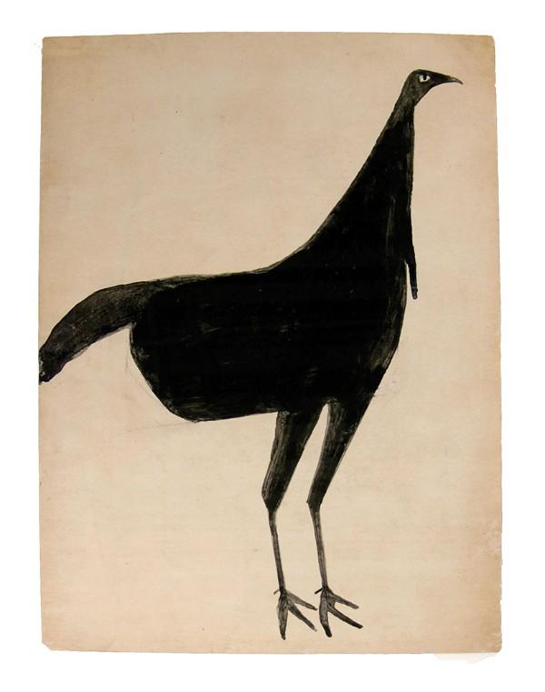 Bill Traylor, Black Turkey, ca. 1939–1942