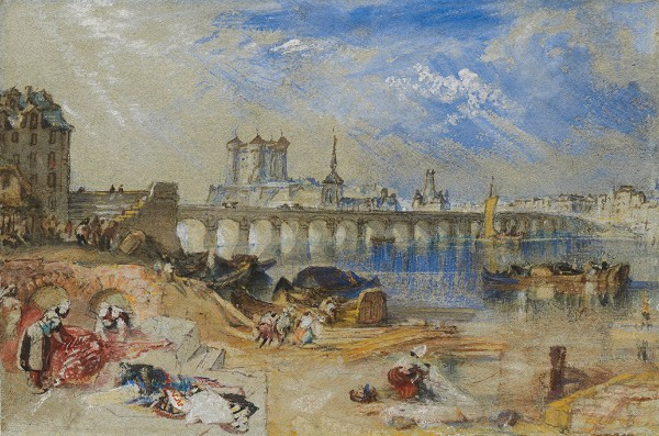 Joseph Mallord William Turner, Saumur from the Île d'Offart, with the Pont Cessart and the Château in the Distance, circa 1830