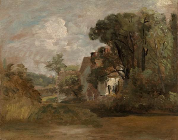 John Constable, Willy Lott's House, circa 1812-13