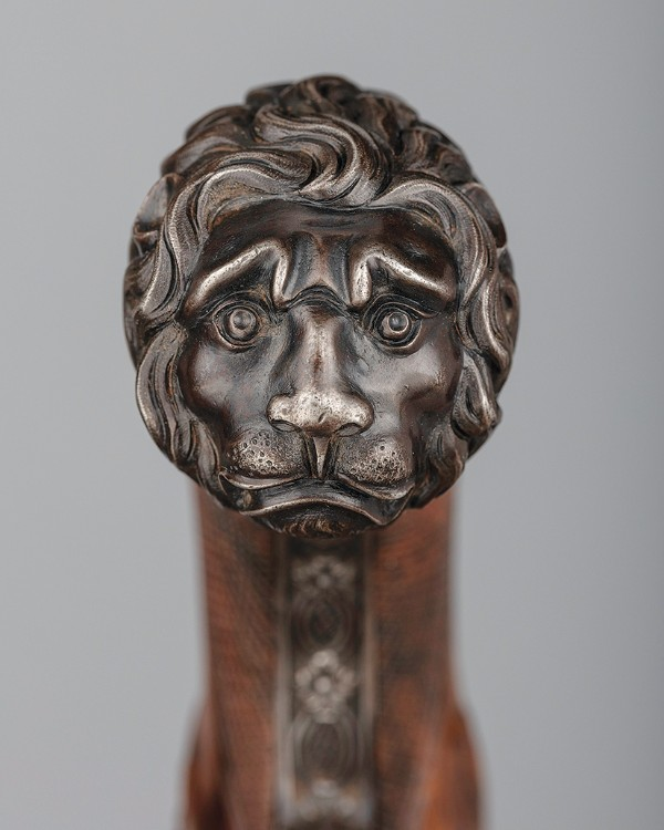 Detail of a Pair of Flintlock Pistols