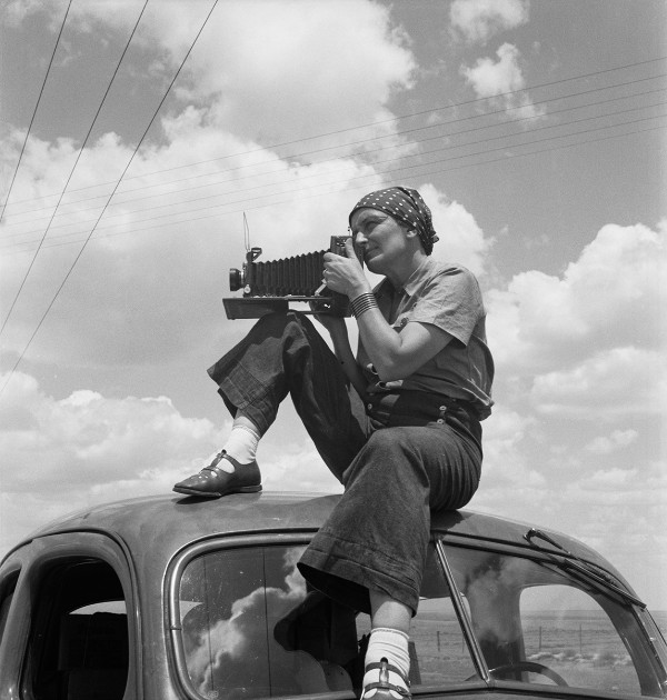 Dorothea Lange in Texas on the Plains, ca. 1935