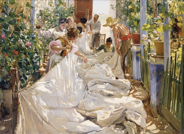 Joaquín Sorolla, Sewing the Sail, 1896