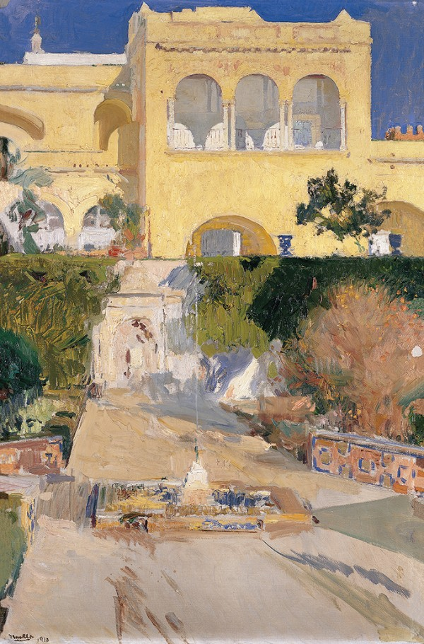Joaquín Sorolla, Sunny Afternoon at the Alcázar of Seville, 1910
