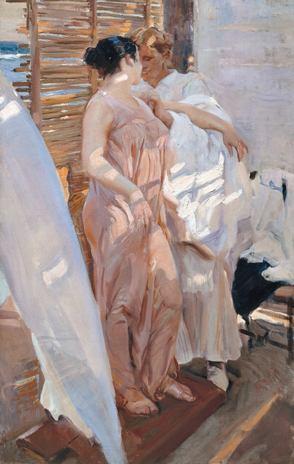 Joaquín Sorolla, After the Bath, the Pink Robe, 1916