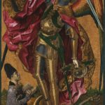 Bartolomé Bermejo, Saint Michael Triumphant over the Devil with the Donor Antoni Joan, 1468