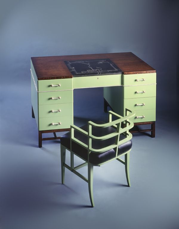 Desk and Chair from the bedroom of the Mr. and Mrs. John W. Bissinger residence, San Francisco, 1929