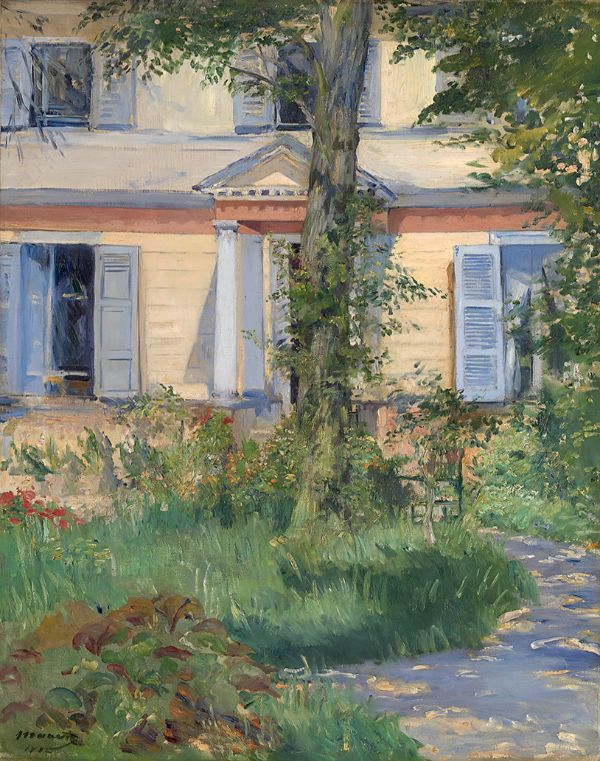 Édouard Manet, The House at Rueil, 1882.