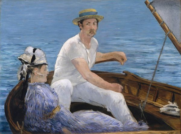 Édouard Manet, Boating, 1874-75.