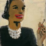 David Park, Woman with Red Mouth, 1954