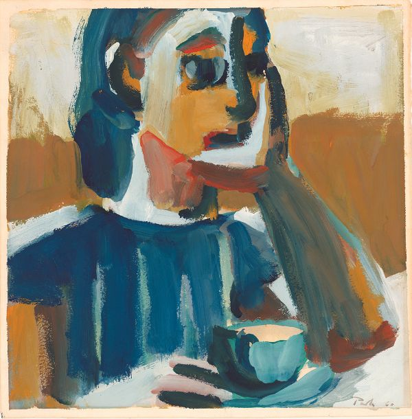 David Park, Lydia Drinking Coffee, 1960
