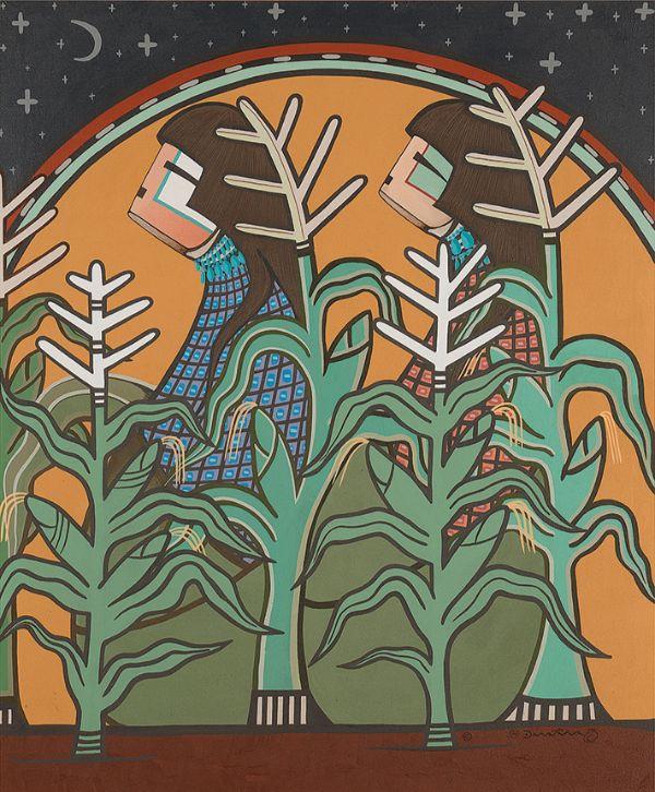Milland Lomakema (Dawakema, Hopi), Corn Maidens, 1975