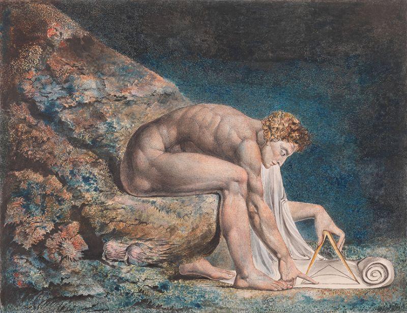 William Blake, Newton, 1795-c. 1805,