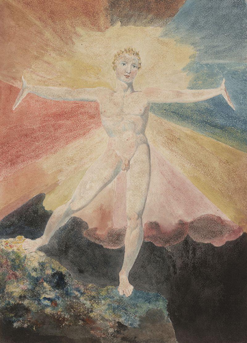 William Blake, left: Albion Rose, c. 1793