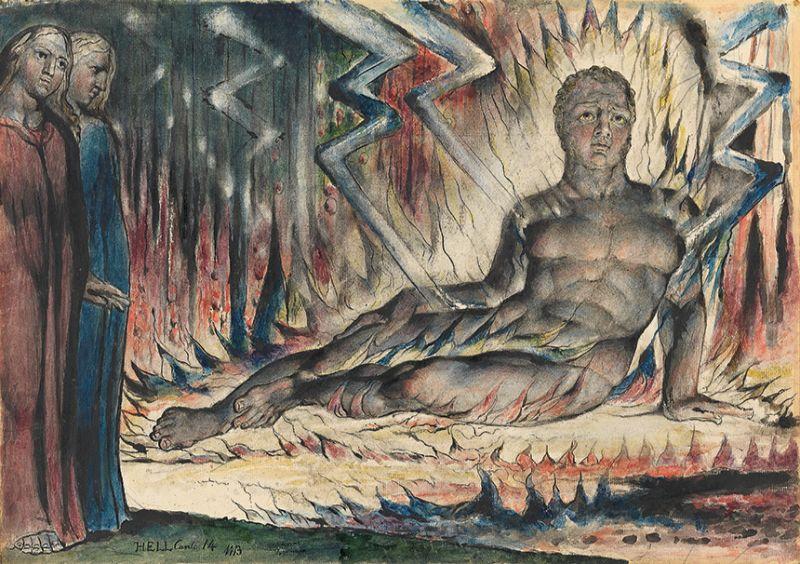 William Blake, Capaneus the Blasphemer, 1824-1827