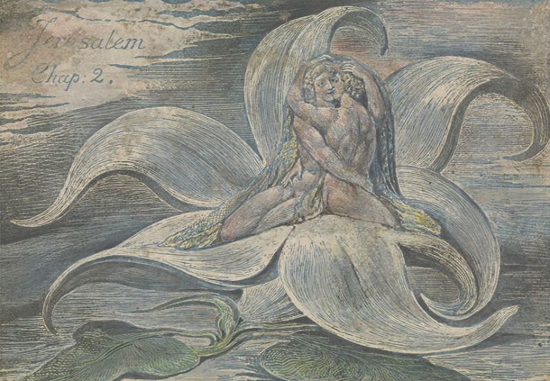 William Blake, Jerusalem, plate 28, proof impression, top design only, 1820