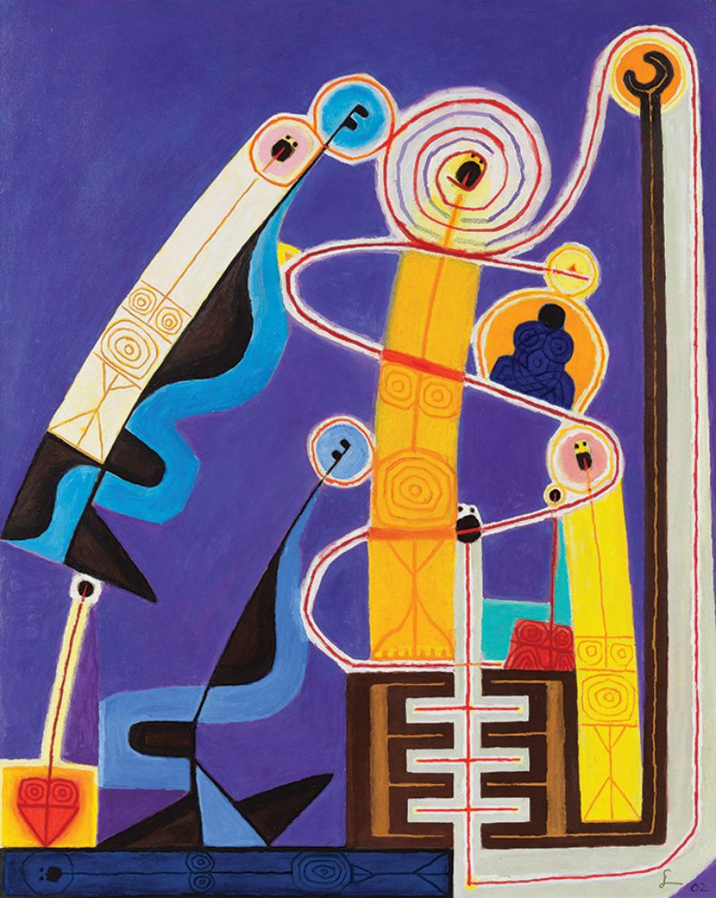 Frank Lobdell, Pier 70, Spring II 2002