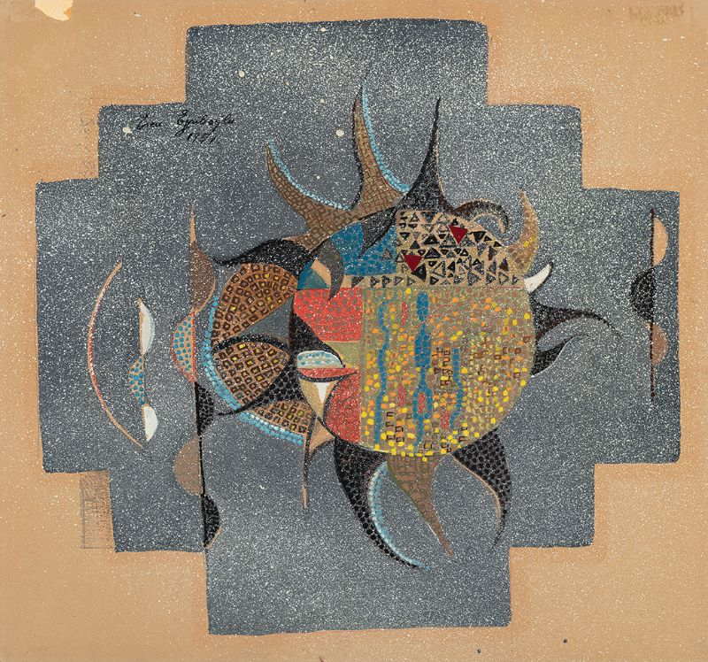 Eren Eyüboglu, Design for Mosaic, 1957