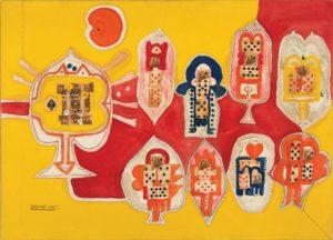 Prabhakar Barwe, King and Queen of Spades, 1967