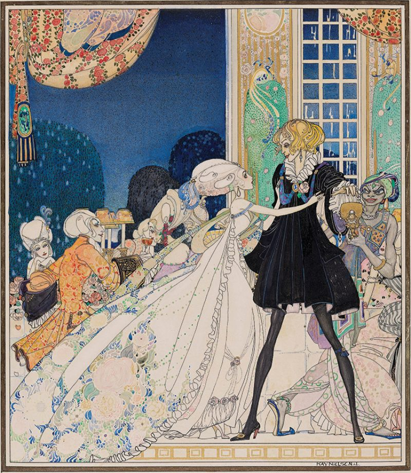 Kay Nielsen, In Powder and Crinoline, 1912