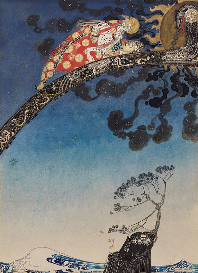 Kay Nielsen, illustration from East of the Sun and West of the Moon, Old Tales from the North, 1913