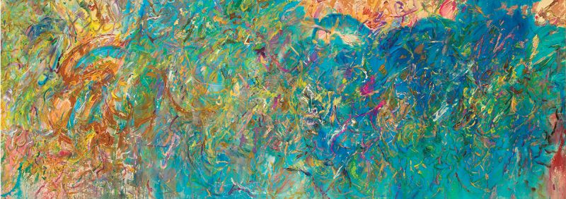 Larry Poons, Open E, 2018