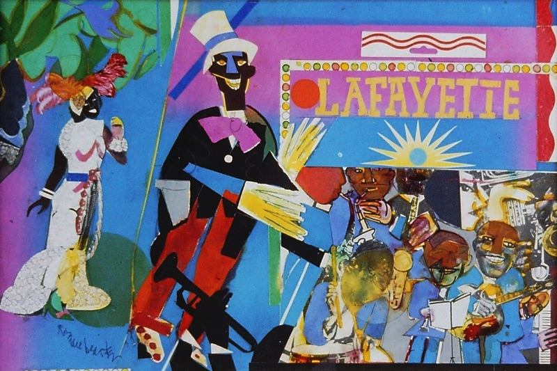 Romare Bearden, Profile/Part II, The Thirties: Johnny Hudgins Comes On, 1981, collage on board;