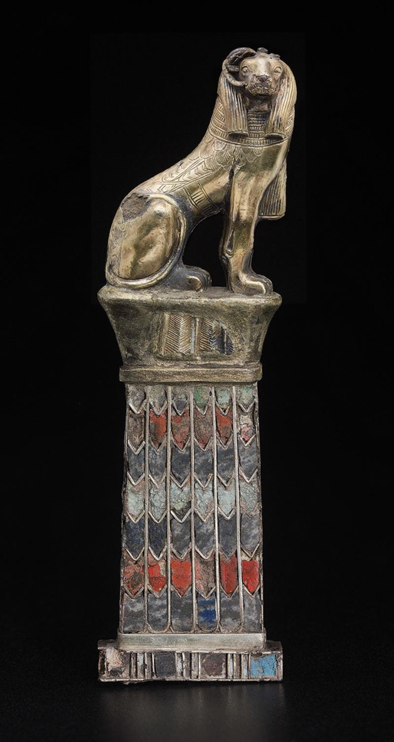 Pendant with ram-headed sphinx, 743-712 B.C.