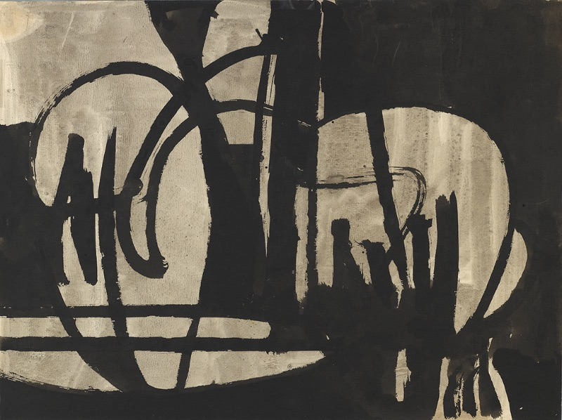 Charlotte Park, Untitled (Black and Gray IV), circa 1950