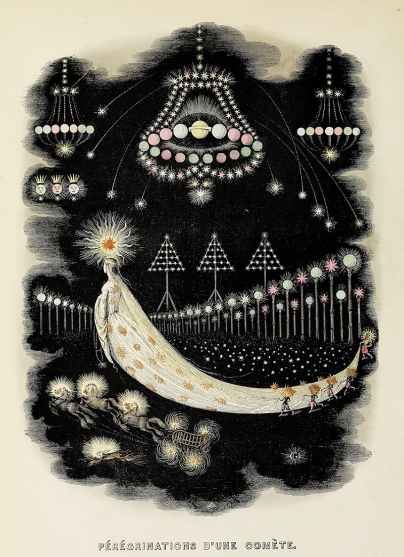 J.J. Grandville, The Wanderings of a Comet from Another World, published 1844