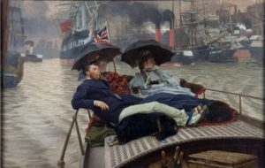 James Tissot, On the Thames, ca.1876